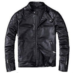 Genuine Leather Moto Style Jacket