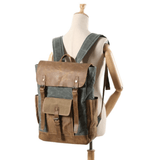 Oil Wax Canvas Cow Leather Rucksacks