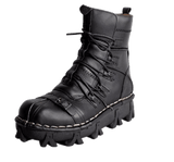 Genuine Leather Skull Biker Boots