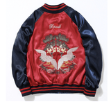 Reversible Embroidery Bomber/Baseball Jacket