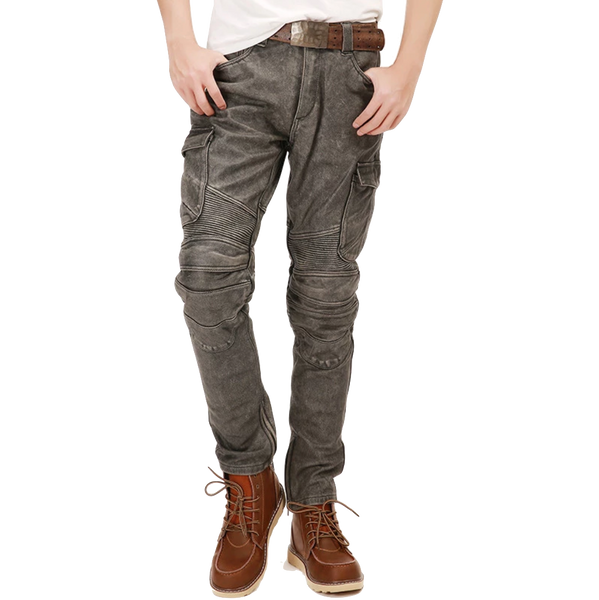 Casual Style Leather Motorcycle Trousers