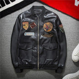 PU Leather Bomber/Biker Jacket