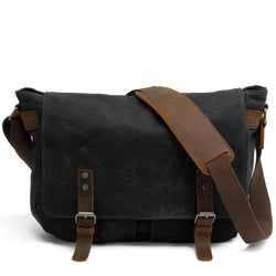 Waterproof Canvas Leather Shoulder Bags for Men