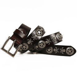 Skull Sheriff Genuine Leather Belt
