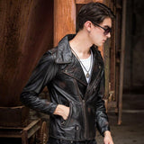 Double-Breasted Brando Style Motorcycle Jacket