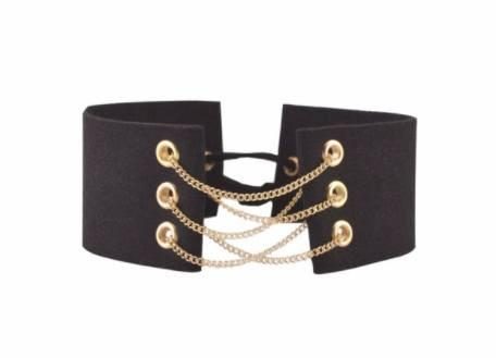 Chain Necklaces - Gothic Velvet Leather Choker Necklace