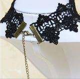 Choker Necklaces - Gothic Choker Necklace Vintage Punk Style Lace Pendant
