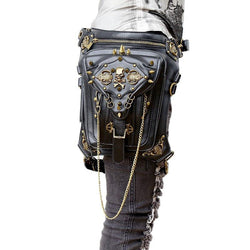 Crossbody Bags - Gothic Steampunk Skull Retro Rock Bag For Men And Women