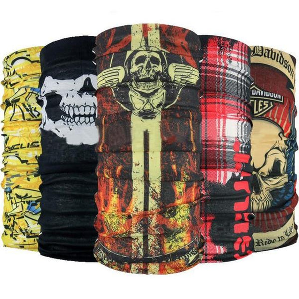 Seamless Skull Dragon Bandanas.