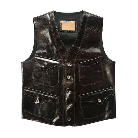 Men's Sheepskin Leather Vest