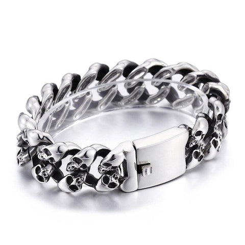 Men Stainless Steel Skeleton Chain Bracelet
