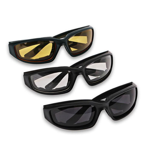 Glasses - 3 Color Set Of Motorcycle Riding Goggles.