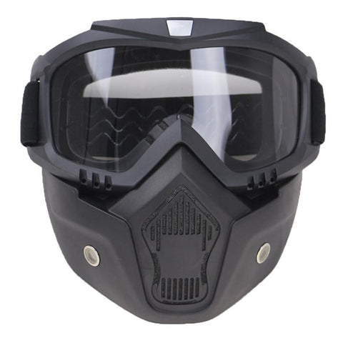 Helmet Windshield/Mask-Goggles - Motorcycle Mask And Glasses