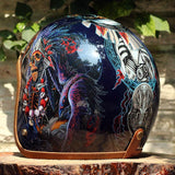 Helmets - DOT Certified Hand-Painted Retro Motorcycle Helmet.