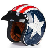Helmets - DOT Certified Retro Motorcycle Helmets