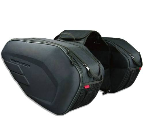 Leather & Saddle Bags - Motorcycle Oxford Cloth Side Travel Bags + Rain Cover