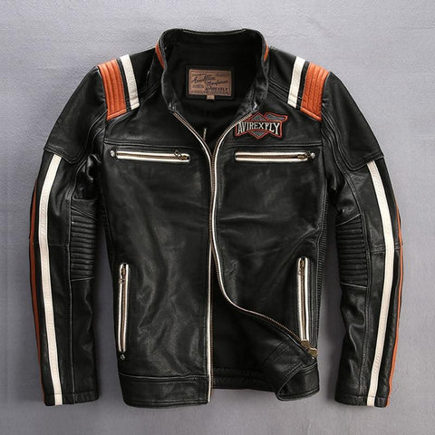 Genuine Cowhide Leather Motorcycle Jackets