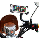 Mobile Phone Holders & Stands - Universal Motorcycle Phone Holder With Rearview Mirror Mount.