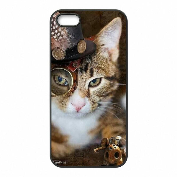 Phone Bags & Cases - Steampunk Cat Phone Cover For Samsung Galaxy!