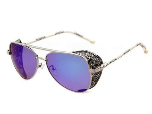 Sunglasses - Retro Sunglasses W/ Crafted Framing