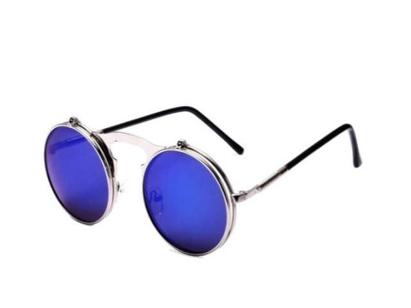 Sunglasses - Vintage Steampunk Sunglasses W/ Flip Lenses