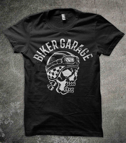 T-Shirts - Biker Garage Cotton T-Shirt