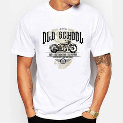 T-Shirts - Old School Motorcycle T-Shirt