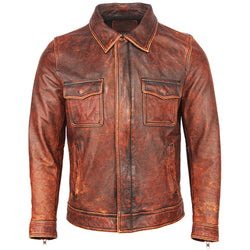 Men Genuine Cowhide Shirt