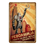 Collectors' Soviet Era CCCP Metal Wall Signs.