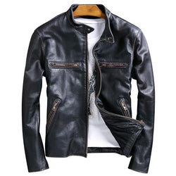 2020 Vintage Black Motorcycle Jacket
