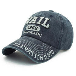 "Denim Washed ""Vail"" Cotton Baseball Cap"
