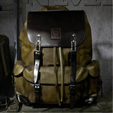 Luxury Cow Leather Simple Military Bag