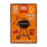 BBQ Party Vintage Wall Plaques.