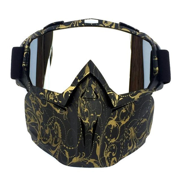 UV Protective Motorcycle/Snowboard Mask and Goggles.