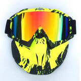 UV Motorcycle/Snowboard Mask and Goggles.