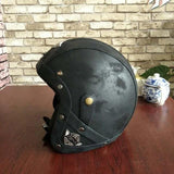 PU Leather Retro Cruiser Helmet