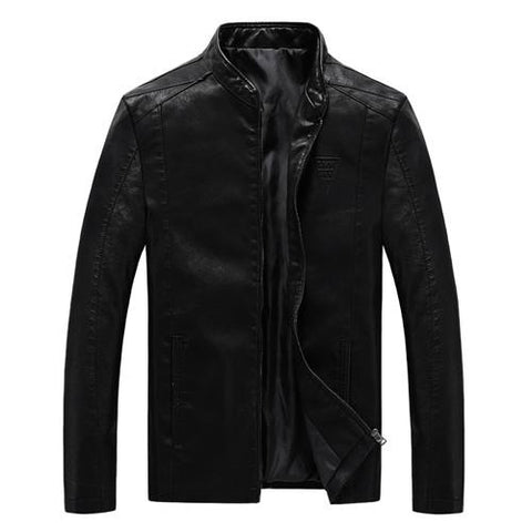 PU Leather Motorcycle Coat