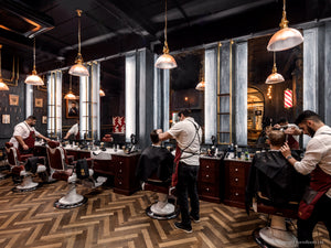 Silver Antiqued Mirrors for a Barbershop in London