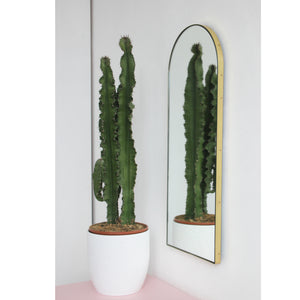 Arcus™ Arch shaped Elegant Narrow Mirror with a Brass Frame