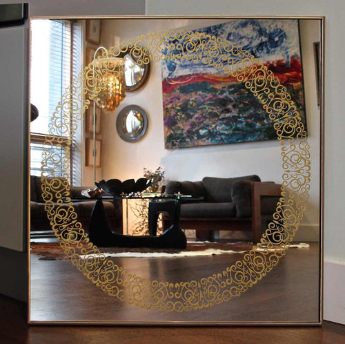 Brass Framed Cooper Square Mirror™
