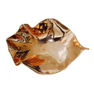 Polished Large Cast Bronze Leaf