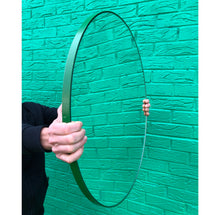 Orbis™ Round Mirror with Lively Green Frame