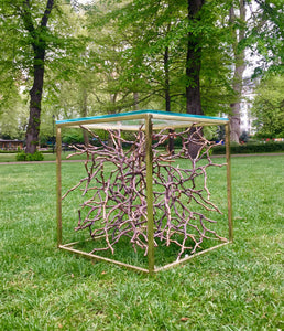 Cast Bronze Magnolia Twig Side Table