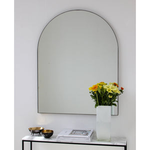Arcus™ Arch shaped Large Mirror with Contemporary Bronze Patina Frame