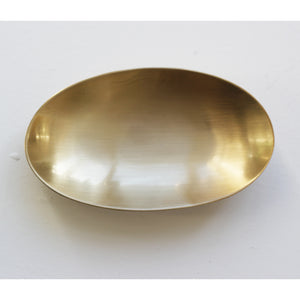 Small Handcrafted Brushed Brass Plate