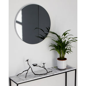 Orbis™ Round Black Tinted Mirror with White Frame