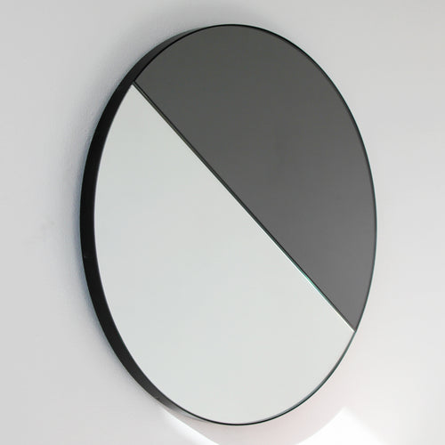 Mixed Tint Dualis Orbis round mirror™ with BLACK frame