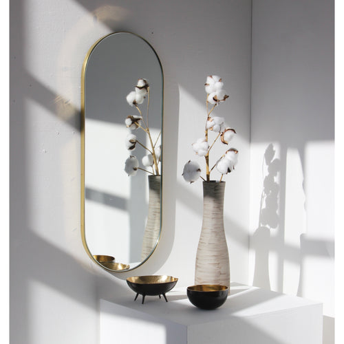 NARROW Capsula Mirror™ - brass frame