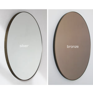 Bronze Tinted Orbis™  Round Mirror with a Bronze Patina Brass Frame