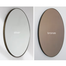 Orbis™ Round Elegant Mirror with a Bronze Patina Frame